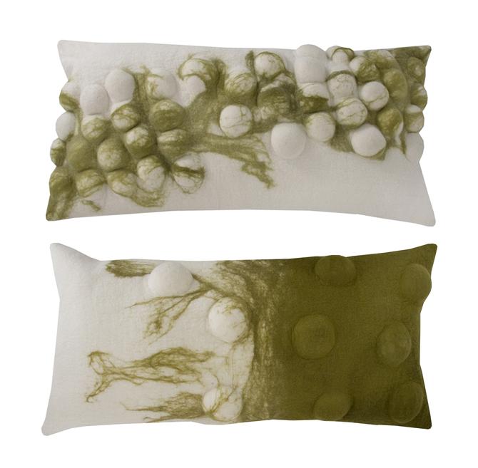 peta lee felt bubble design cushions