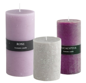 Scented Candles Violet Lilac and Grey