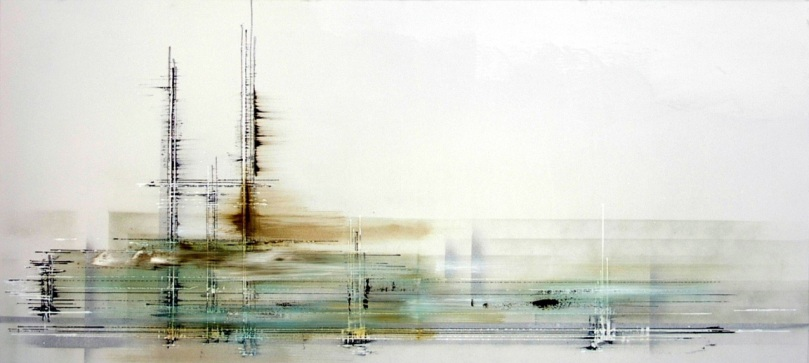 Beautiful Abstract Painting By Fine Artist, Gavin Collins.