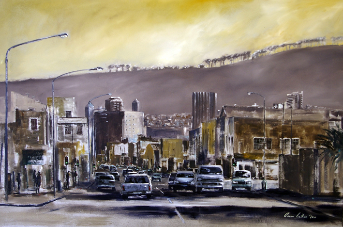 Painting of Lower Main Road Salt River by Fine Artist, Gavin Collins.
