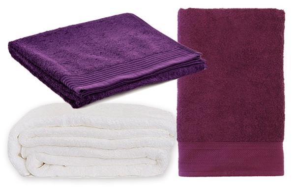 Towels - White & Purple