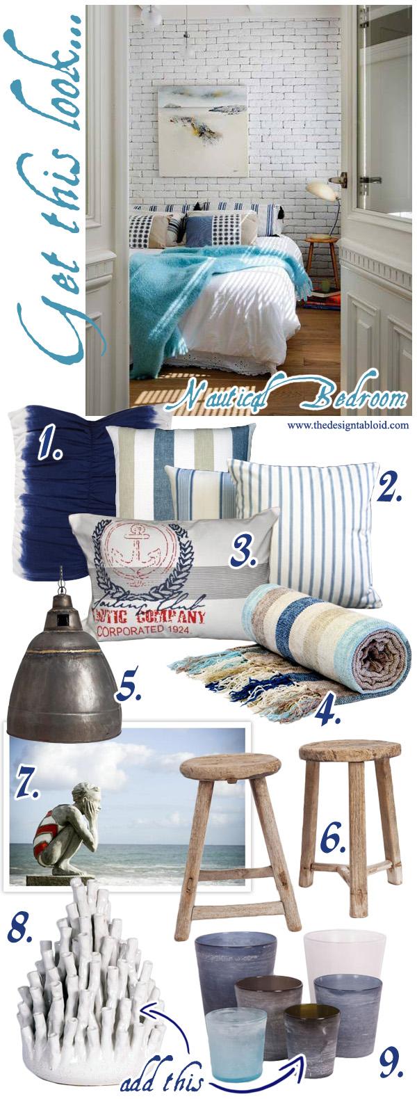 Nautical Themed Bedroom Decor: Get This Look: Nautical Bedroom