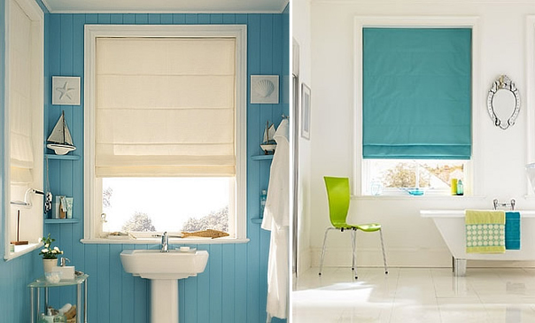 Window treatments 101 roman blinds the design tabloid for Blinds bathroom window
