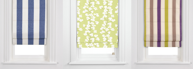 Window treatments 101 roman blinds the design tabloid for Fabric window blinds designs