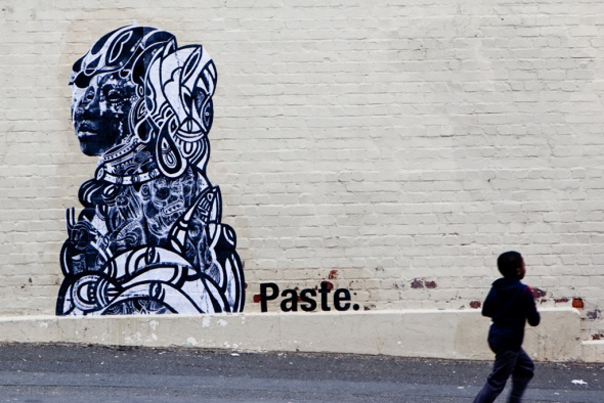 PASTE mural by Linsey Levendall