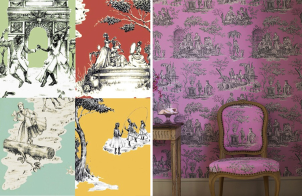 Contemporary Toile Wallpapers. Part 94