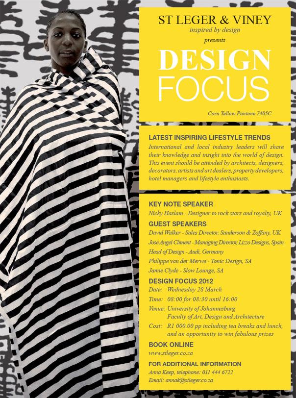 St Leger & Viney - Design Focus Invitation