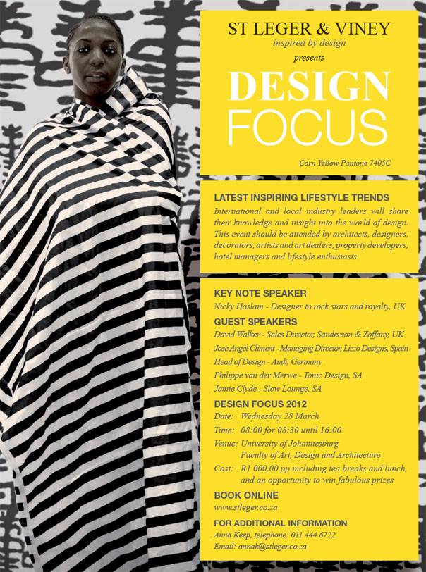 St Leger & Viney - Design Focus Invitation