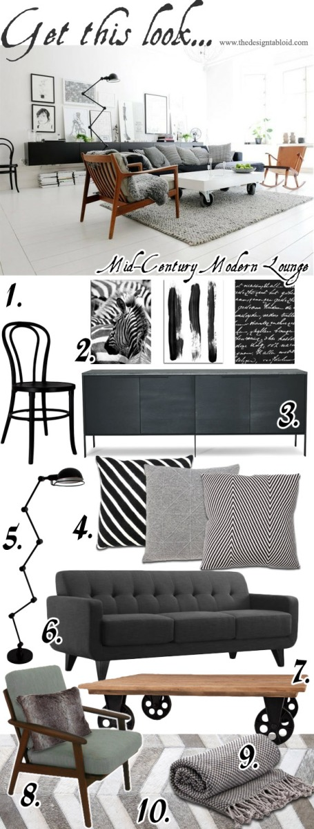 Get This Look - Mid-Century Modern Lounge
