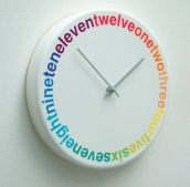 Colours Clock by Richard Shed Studio