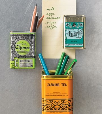 Tea Tin Fridge Magnets - Decor Quick Tips [The Design Tabloid]
