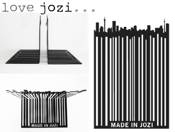Barcode Bookends by Love Jozi