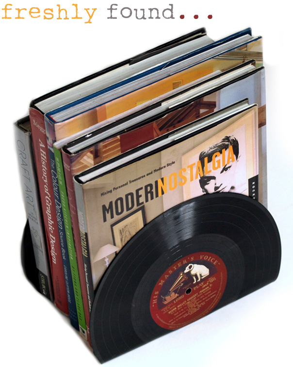 Vinyl LP Record Bookends by Freshly Found