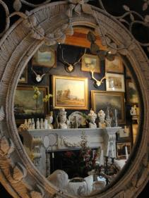 "The shop reflected in the Chandler House ""Madame-Style Mirror"""