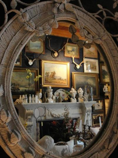 """The shop reflected in the Chandler House """"Madame-Style Mirror"""""""