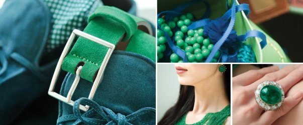 Emerald & Blue