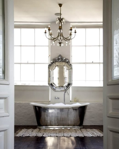 Beautiful silver bath | via 1st-option.com