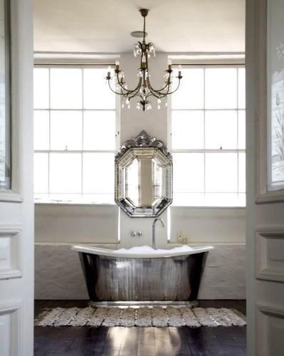 Beautiful silver bath   via 1st-option.com