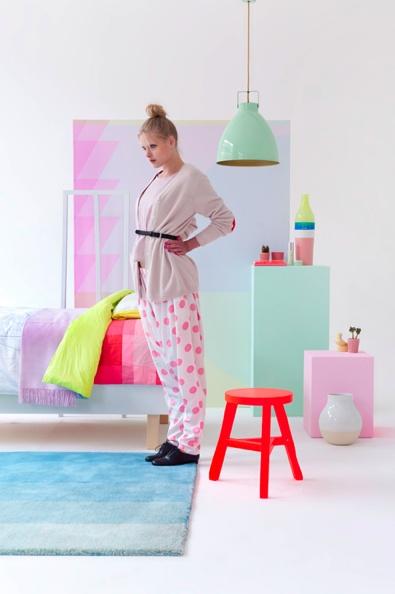 'Fluo Meets Pastel' by Floor Knaapen and Anne-Sophie Markus for Eigen Huis & Interieur Magazine