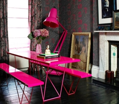Neon Pink Dining!   By deanleber via Flickr