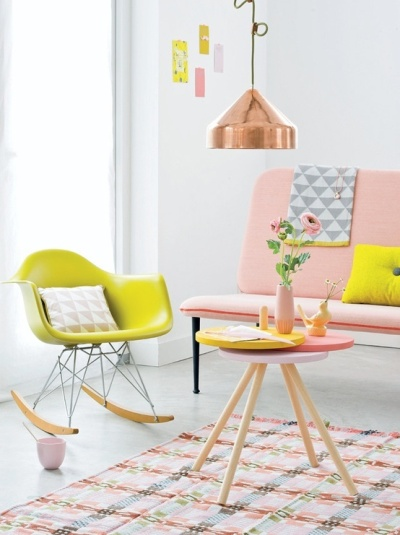 This stunning image is the perfect combination of the trends discussed in this post - a mix of pastels, neon & a touch of copper.