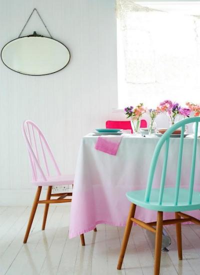 A beautiful soft pastel dining room   via charlottelovey.blogspot.co.uk