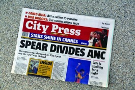 City Press Newspaper, 27 May 2012 edition   Editor, Ferial Haffajee
