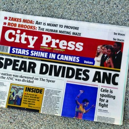 City Press Newspaper, 27 May 2012 edition | Editor, Ferial Haffajee