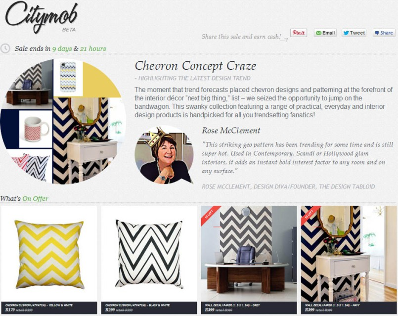 Our Citymob sale on Citymob! Be sure to check it out here: http://citymob.co.za/sale/506/highlighting-the-latest-design-trend