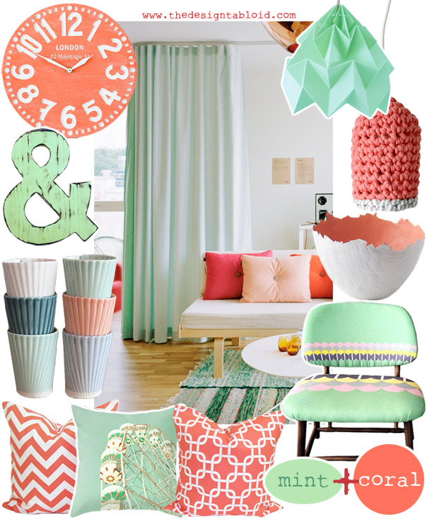 Coral U0026 Mint ǀ Colour Coded Inspiration ǀ The Design Tabloid