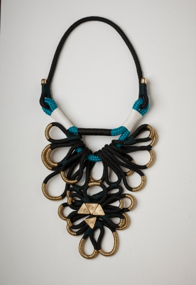 Golden Fold Necklace by Katherine-Mary Pichulik