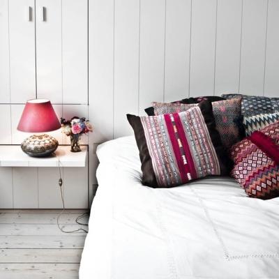 The bedroom of Melanie Ireland , creator of Simple Kids | http://www.milkmagazine.net/melanie-ireland-simple-kids/