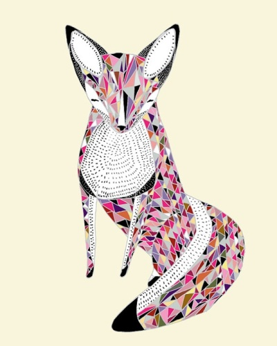 Love this geo design fox print by Gingiber on Etsy | http://www.etsy.com/listing/62111445/fox-print-art-8x10-print-giclee