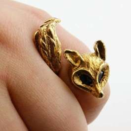 Enchanted Fox Ring by Angela Monaco on Etsy | http://www.etsy.com/listing/87352402/enchanted-fox-ring-in-rose-gold?