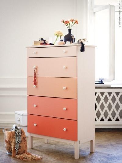 Another Ombre adaptation of Ikea's Tarva dresser | http://decor8blog.com/2012/06/07/ombre-diy-dresser-from-ikea/