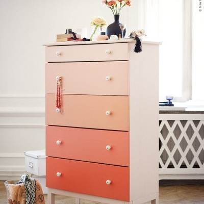 Another Ombre adaptation of Ikea's Tarva dresser | http://decor8blog.com/2012/06/07/ombre-diy-dresser-from-ikea/