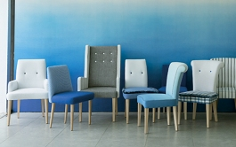 Designers Guild has a whole range of beautiful Ombre furniture, wallpaper and fabric | http://www.designersguild.com/furniture-gallery/