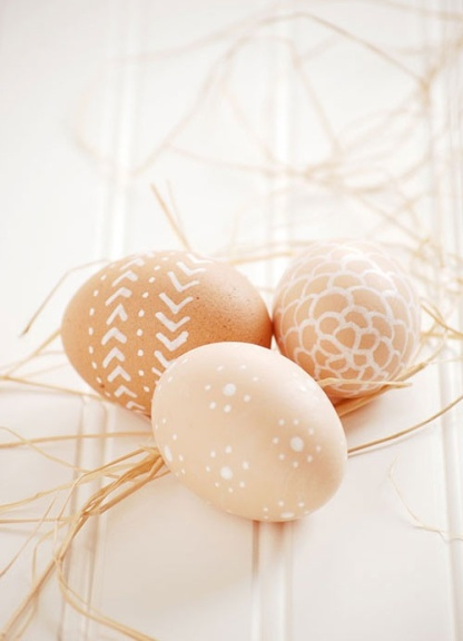 Keep it natural - all you need is a white pen | via http://www.joyeverafter.com/blog/2013/3/15/farm-fresh-easter-eggs.html