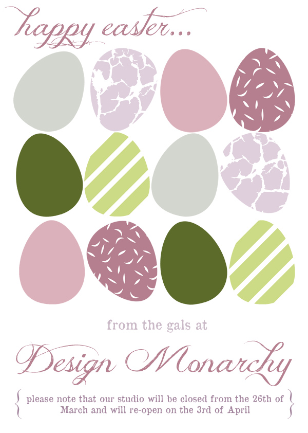 Happy Easter from The Design Tabloid & Design Monarchy