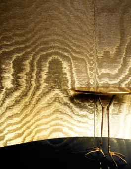 Love this glam imitation moire wallpaper by Arte.