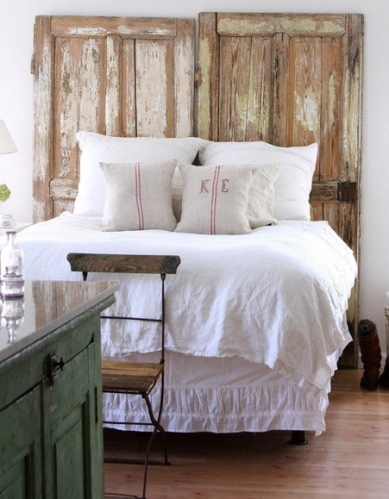 Old Doors As Headboards