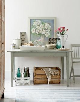 A lovely vintage whimsy kitchen / baking themed vignette   via elleinterior.se