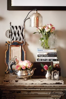A beside table that tells a story in the beautiful eclectic Cape Town home of Sandra van der Merwe   via House & Leisure