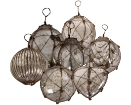 Collection of nautical-looking vintage glass baubles from Weylandts | via http://www.weylandts.co.za/product/baubles