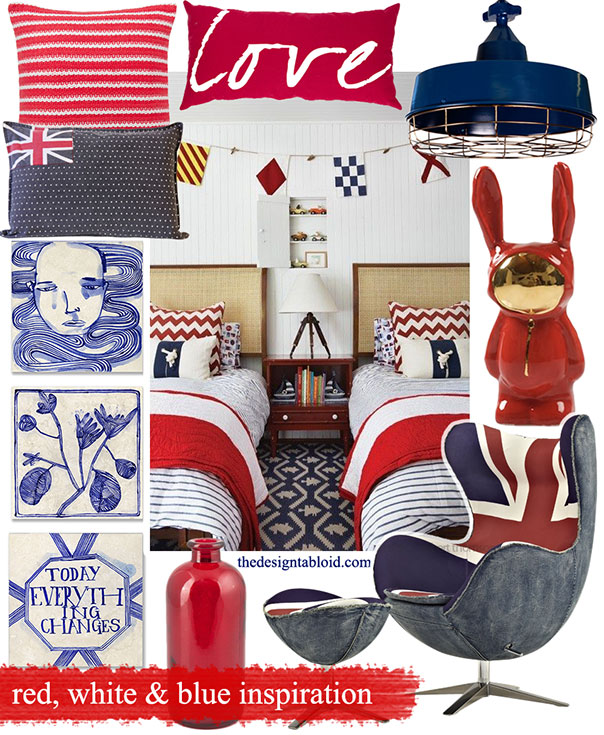 Red White & Blue Colour-Coded Inspiration ǀ The Design Tabloid (1)