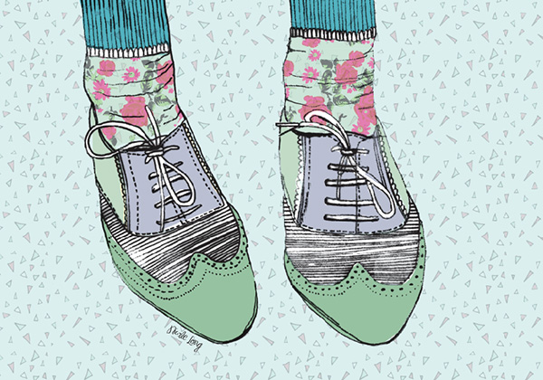 These lovely shoes formed part of a whimsy calendar illustrator Nicole Long designed for 2012.