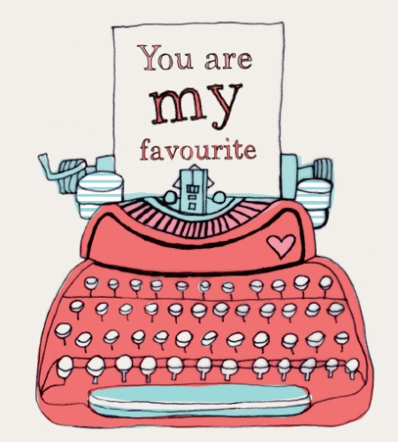 No Nicole - YOU are my favourite! Love this little typewriter - another work for Mr. Price.