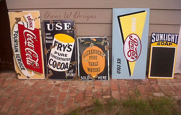 Vintage Signs by Oscar W Designs ǀ The Design Tabloid
