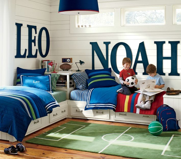 Little Boy Room Design Ideas: Boys Bedroom Ideas {via The Design Tabloid} (9)