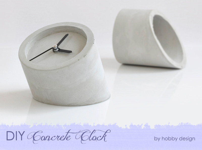 DIY Concrete Clock {The Design Tabloid}